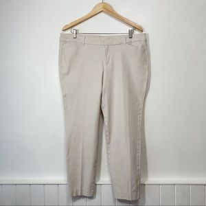Old Navy Pixie Palomino Mid-Rise Chino Cropped Ankle Pants Size 16 Regular